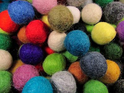F74 Lot of 50 felt ball 2cm handmade DIY Multi Color Christmas Wholesale Nepal