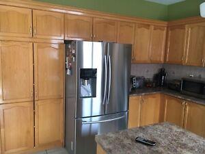 Kitchen cabinets including rangehood
