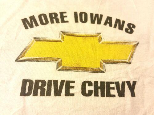 "RARE+NEW = ""More Iowans Drive Chevy"" T-Shirt-XXL-Iowa-Chevrolet Logo-White Hanes"