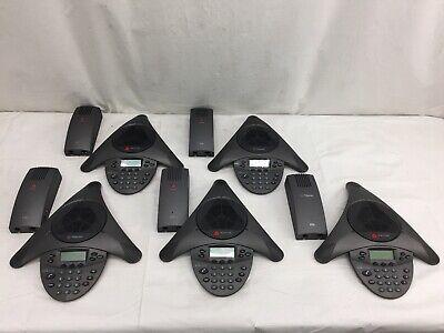 Lot Of 5 Polycom Soundstation Vtx1000 Conference Phone 2201-07142-601 Wadapters