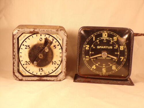 Vintage Eastman Kodak Timer Model B and Spartus Interval Mechanical Timer