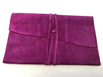 Campo Marzio 30 Business Card Holder Hot Pink Genuine Leather Made In Italy