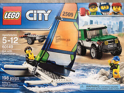 New LEGO CITY 60149 4x4 with Catamaran Boat Sailboat Jeep Land Rover Range