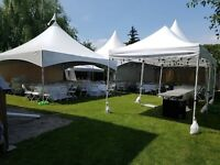 Tents, tables, chairs and more for rent!
