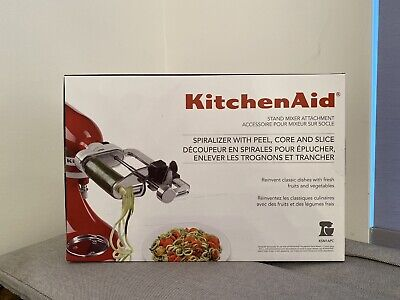 Kitchen Aid Spiralizer Plus With Peel, Core and Slice 5 Blades Mixer Attachment