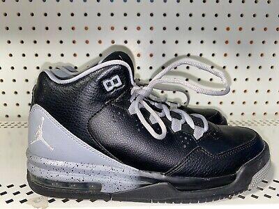 Nike Air Jordan Flight Origin 2 Boys Youth Basketball Shoes Size 5Y Black Gray