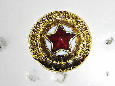 b9582 Korean War Korea Officer Visor hat Cap Star badge IR16A