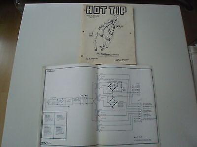 Schaltpläne Manual Anleitung für Flipper Hot Tip Williams