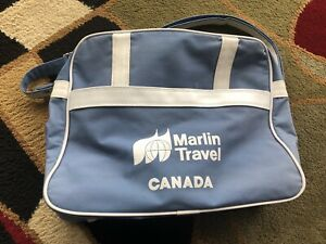 Vintage Marlin travel agency bag, cabin. Retro look.