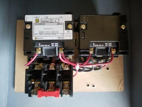 Square D Magnetic Motor Starter, 600V, Series A, 8736SBO4S, 30141-400-42