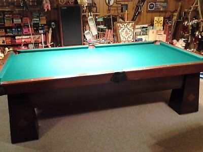 Vintage 9 Brunswick Pool Table Early1900 Ball Return