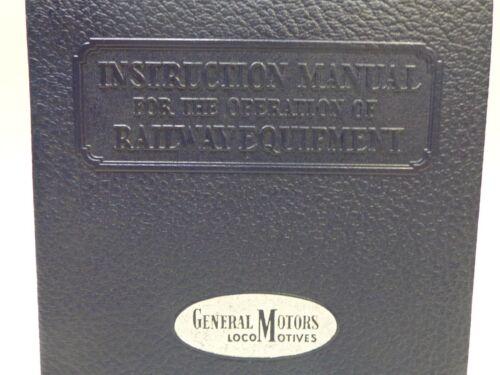 Instruction Manual for Operation Railway Equipment  No 254 1950 General Motors