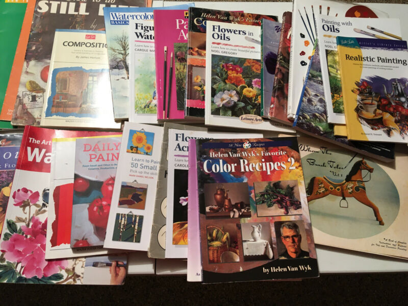 Huge LOT of Painting Instruction Books How To Paint Art Walter Foster Oil Flower