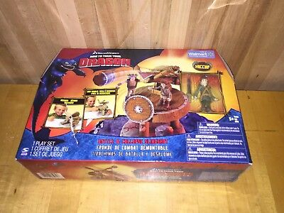 How To Train Your Dragon Hiccup Figure   Playset Slingshot Riders Of Berk Hiccup