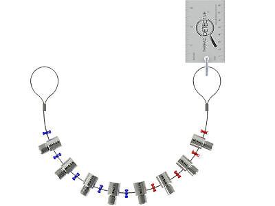 8 Pc Lug Nut Wheel Stud Thread Detective Sizepitch Gauge Set Metricsaeinch