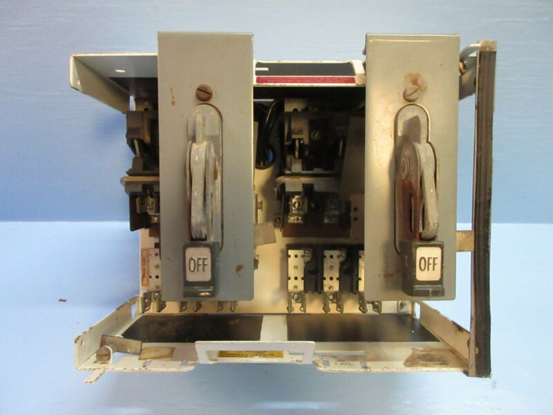 """Cutler Hammer Eaton F10 Unitrol Twin 30 Amp Dual Fused 12"""" Feeder MCC Bucket"""