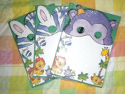 22 Zebra  Monkey Birthday Party Invitations doubles as Mask Posie Invite Jungle  (Monkey Invitations)