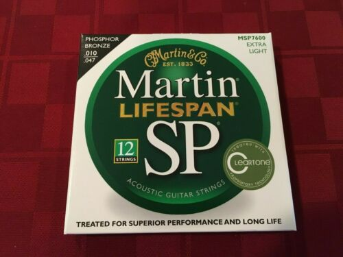 MARTIN MSP7600 12 STRING SET ACOUSTIC GUITAR LIFESPAN  STRINGS - (now MA500T)