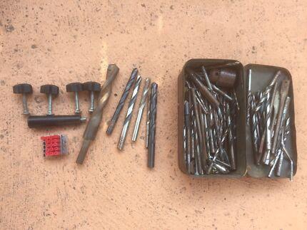 Various drill bits