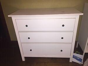 IKEA KOPPANG Chest of 3 Drawers - White Toorak Stonnington Area Preview