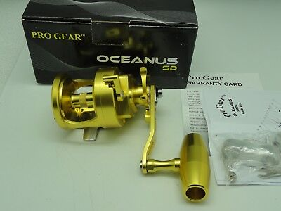 NEW 2018 Oceanus SD25 Progear SD 25 Best Star Drag reel Gold FREE JAWS COVER