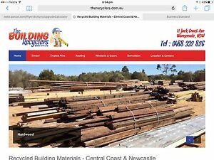 Recycled timber hardwood flooring, joist & bearers secondhand timber Warnervale Wyong Area Preview