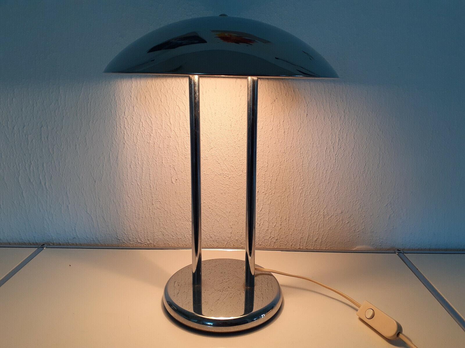 80er Jahre Ikea TischLeuchte SchreibtischLampe Chrom Bauhaus Art Deco