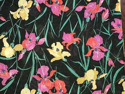 BonEful Fabric FQ Cotton Quilt Brown Yellow Sun*Flower Red Pink Garden Cottage S