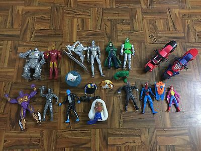 MARVEL Comics Mixed Lot 19 Loose Figures FF Novelties Cake Toppers Boy Toys GC (Marvel Cake Toppers)