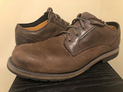 TIMBERLAND Brown Leather Oxfords MENS 12 46 Comfort Ortholite Casual Dress Shoes