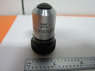 Microscope Objective Olympus Mplan 40x Optics Bink9-54