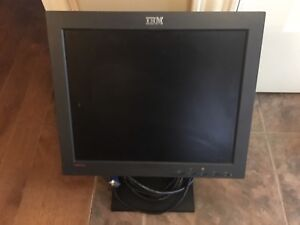 Black IBM Computer Screen / Monitor