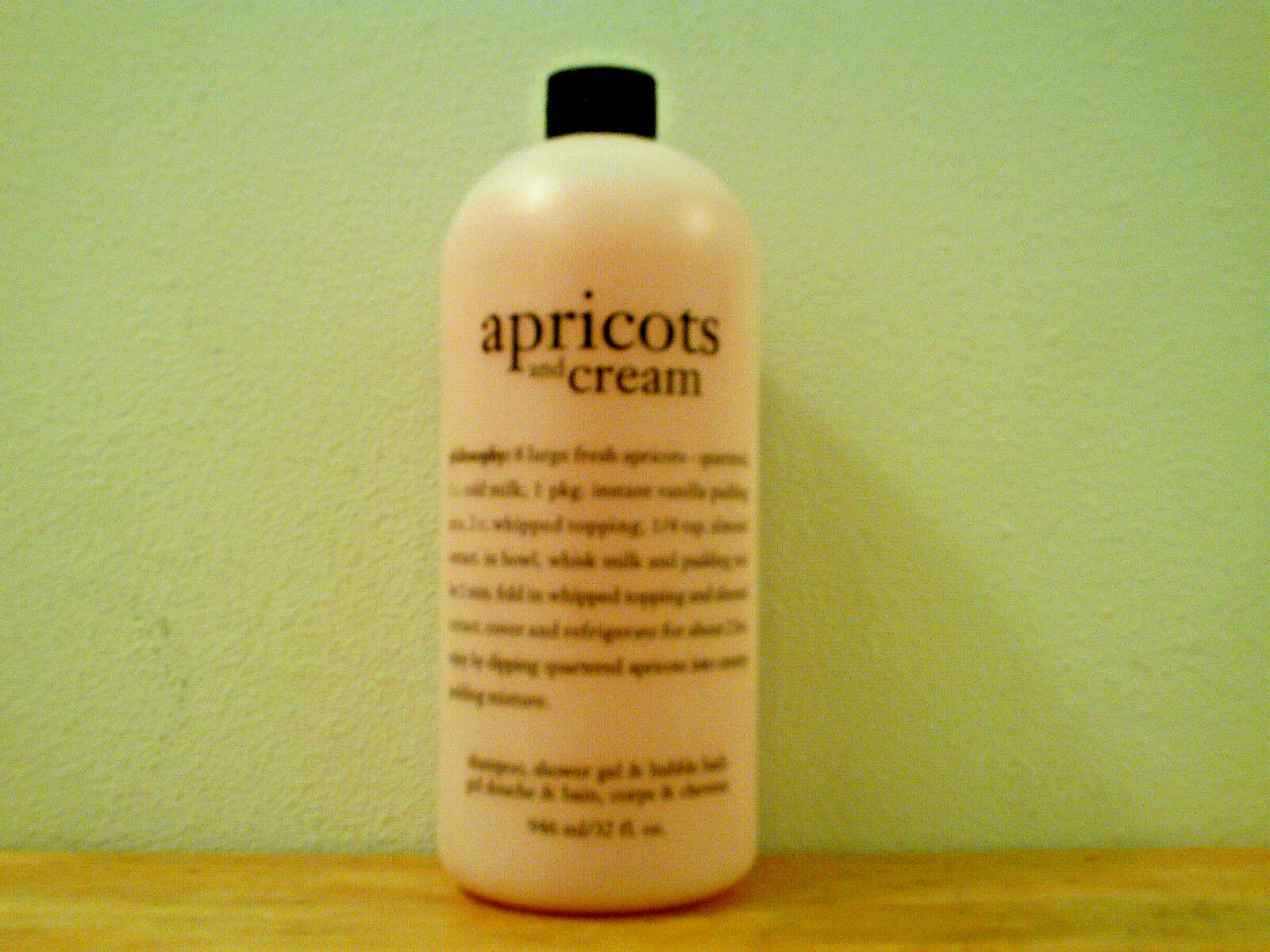 philosophy Apricots and Cream Shampoo, Shower Gel and Bubble