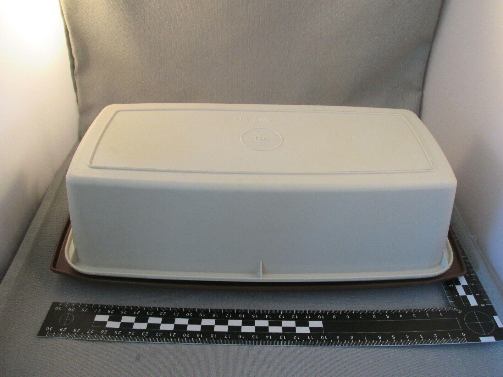 Tupperware Kuchen Behälter Kastenkuchen Retro braun beige