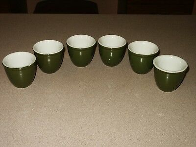Set of 6 Vintage HALL China Ramekins Egg Cups Hunter -