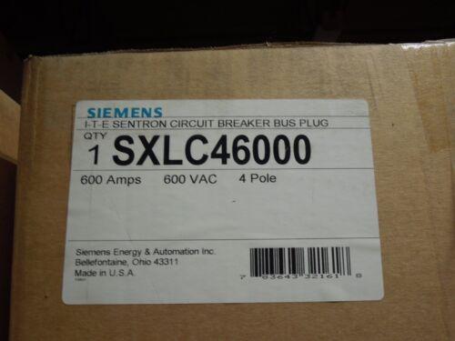 Siemens Sxlc4600 600a 3ph 4w 600v Ite Sentron Breaker Busplug Enclosure Surplus
