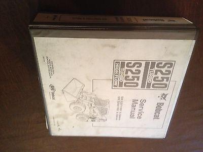 Bobcat Skid Steer Skidsteer Loader S250 250 Service Manual Melroe Ir
