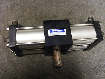 Rotomation Pneumatic Rotary Actuator As Pictured Cat No. A42-90-cw-s10-3a-14-2
