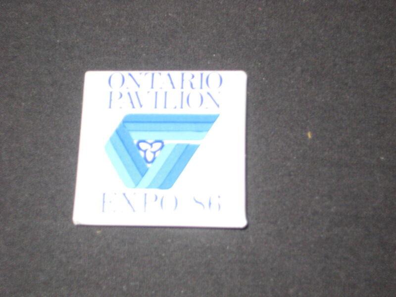Expo 86 Vancouver, BC Ontario Pavilion Button        c7