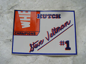 HUTCH-STEVE-VELTMAN-5-TIME-CHAMPION-DECAL-BMX-BICYCLE-RACING-RARE-STICKER