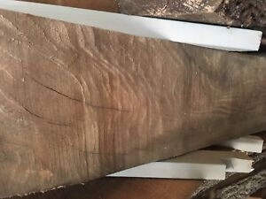 Black walnut rough cut into slabs live edge