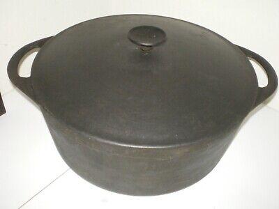 """Vtg Cousances Le Crueset 12.5"""" Dutch Oven Cast Iron #31 Pot France Black 8 Qt"""