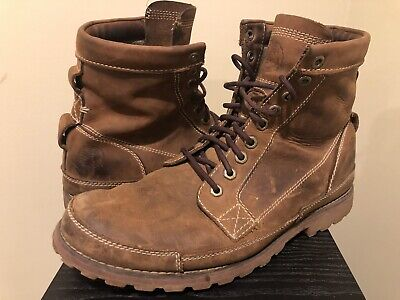 """TIMBERLAND Earthkeeper Original 6"""" Brown Leather Boots #15551 MENS 9M Ankle"""