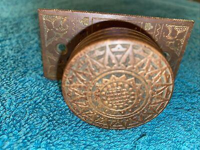 OnecReclaimed Antique Edwardian Brass Door Pull Handle 7 Inch 175mm Vintage