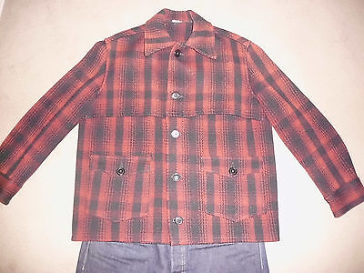 Montgomery Ward Mens Vintage Wool Jacket Xl Flannel Hunting Usa Made