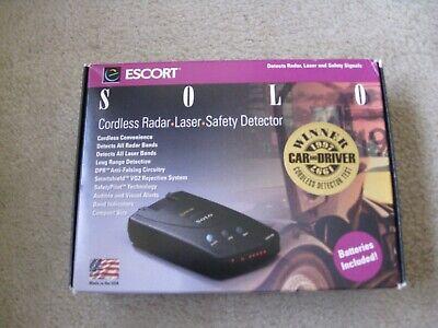 Ny Escort Solo trådløs radardetektor i kasse