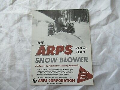Arps Toto-flail Snow Blower Brochure