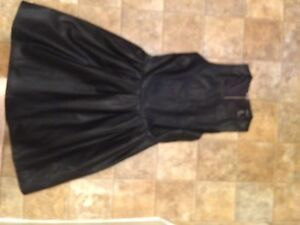 Small leather dress halter style Nwt