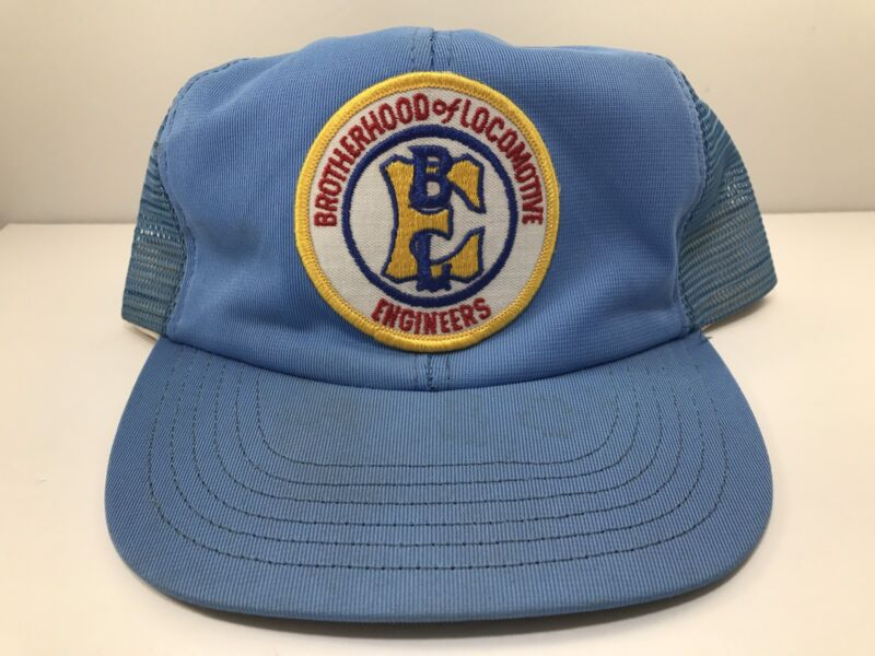 Brotherhood of Locomotive Engineers Patch Snapback Hat Cap Truckers Blue RR USA