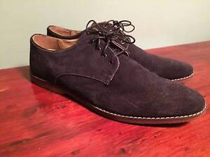 Mens Navy Suede Dress Shoes Size 12 AUS Klemzig Port Adelaide Area Preview